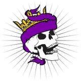 Skull ribbon tattoo tshirt crown2 Stock Photography