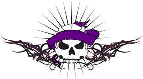 Skull ribbon tattoo tshirt tribal2 Royalty Free Stock Image