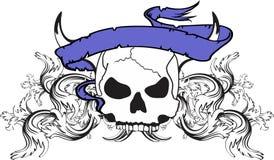 Skull ribbon tattoo tshirt 2 Stock Photography