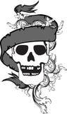 Skull ribbon tattoo tshirt 6 Stock Images