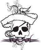 Skull ribbon tattoo tshirt 8 Stock Photo