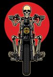Skull riding motorcycle. Vector of skull riding motorcycle Stock Photo