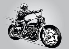 Skull riding motorcycle. Vector of Skull riding motorcycle Stock Photography