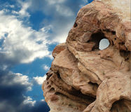 Skull Rock. Skull-like Rock Formation in Vasquez Rocks, California royalty free stock photo