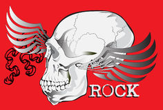 Skull rock art Stock Photos