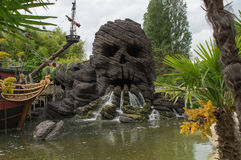 Skull rock in Disneyland Paris stock photography