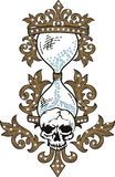 Skull rock grunge texture Stock Images