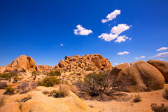 Skull rock in Joshua tree National Park Mohave California Royalty Free Stock Image