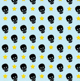 Skull rock star pattern background. Stock Image