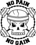 Skull and rods sport illustration. For t-shirt Stock Image