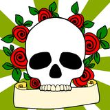 Skull and roses Royalty Free Stock Photo
