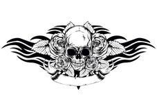 Skull roses tribal Stock Photo