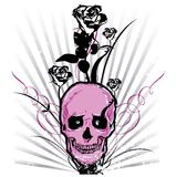 Skull and roses Vector illustration Royalty Free Stock Images