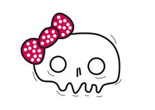 Skull with a rosette royalty free illustration