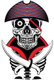 Skull Sailor Man Artwork T shirt Graphic Design Royalty Free Stock Photography