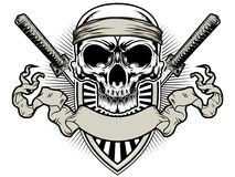 Free Skull Samurai Royalty Free Stock Image - 36409116