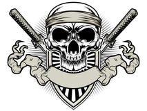 Skull samurai Royalty Free Stock Image