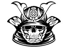 Skull in samurai helmet Royalty Free Stock Photos