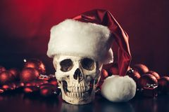 The skull of Santa Claus. New year and christmas party concept Royalty Free Stock Photos