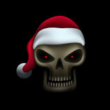 Skull in santa hat Stock Image