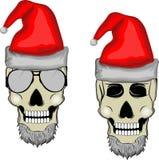 Skull santa Stock Images