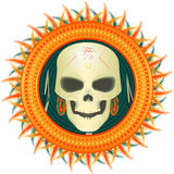 Skull of the savage in exotic Stock Photography