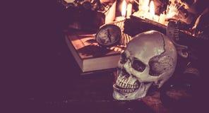 Halloween skull Stock Images