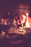 Skull and Halloween Stock Image