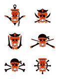Skull sea tribal tattoo Stock Photography