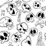 Skull seamless Royalty Free Stock Image