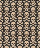 Skull seamless dark pattern Stock Photos