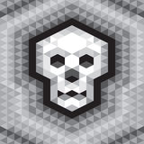 Skull Seamless Geometric Pattern in grayscale colors Royalty Free Stock Photo