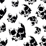 Skull seamless pattern Royalty Free Stock Photos