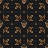 Skull seamless pattern Art Deco Vector illustration Stock Photo