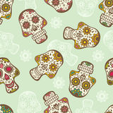 Skull seamless pattern Royalty Free Stock Photo