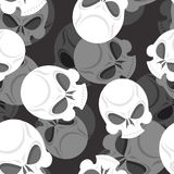 Skull seamless pattern. Head Sklet 3d background. Death of ornam Stock Images