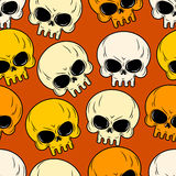 Skull seamless pattern. Texture of head skeleton. Royalty Free Stock Image