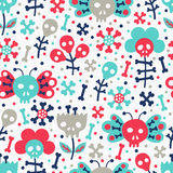 Skull seamless pattern Stock Photography