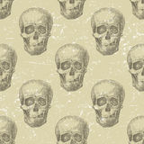 Skull seamless Stock Photos