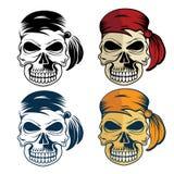 Skull set art Stock Images