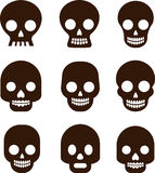 Skull set, Mexican day of the dead Stock Image