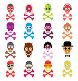 Skull - set of vector icons Stock Image