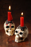 Skull shape candle Royalty Free Stock Images