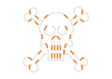 Skull shape cigarettes. Vector Illustration of skull shape cigarettes Stock Photos