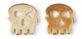 Skull shaped bread Stock Images