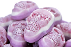 Skull-shaped candies Stock Photo
