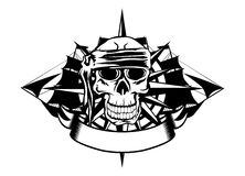 Skull and ships Royalty Free Stock Photo