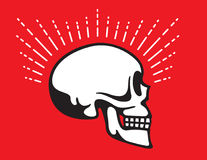 Skull Side View with Glow Line graphic effect Stock Image