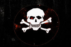 Skull sign Stock Image