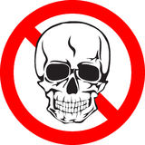 Skull sign. Vector illustration skull and sign danger format EPS8 Royalty Free Stock Photography